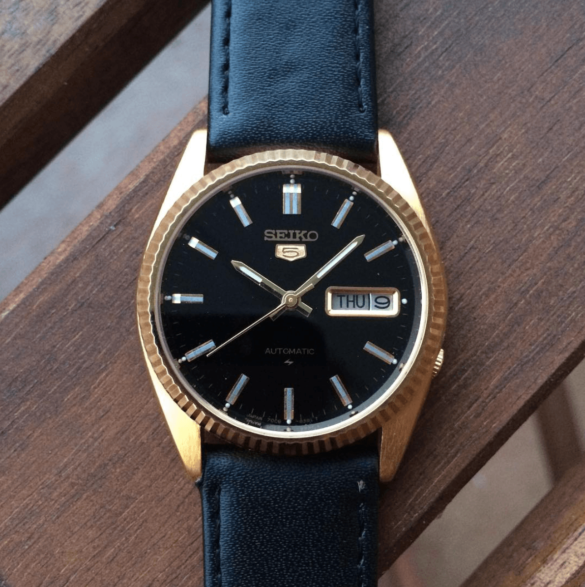 Vintage seiko leather